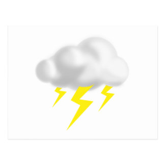 Lightning in Thunderstorm Cloud Postcard