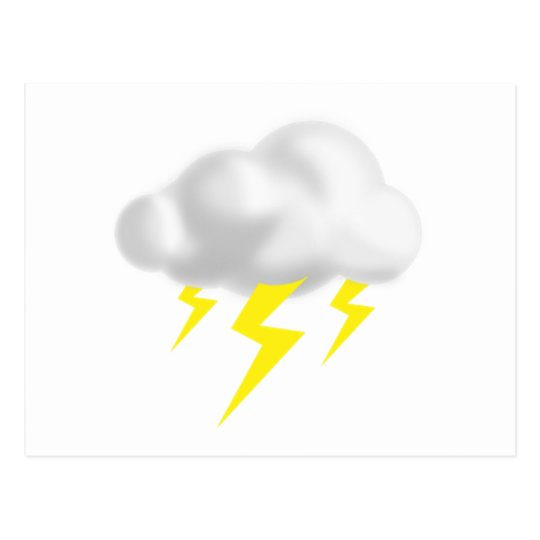 Lightning in Thunderstorm Cloud Postcard