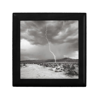Lightning Joshua Tree B&W Jewelry Box