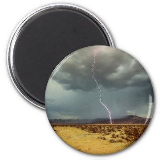 Lightning Joshua Tree Color 2 Inch Round Magnet
