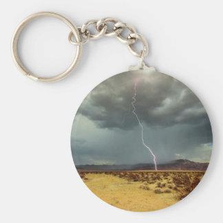 Lightning Joshua Tree Color Basic Round Button Keychain