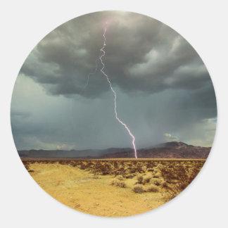 Lightning Joshua Tree Color Classic Round Sticker