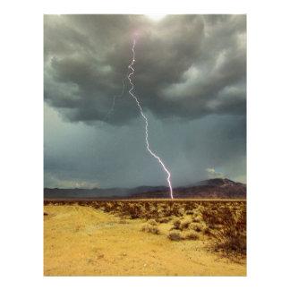 Lightning Joshua Tree Color Custom Letterhead