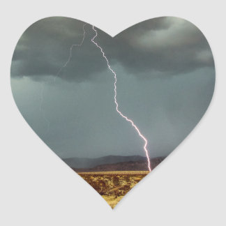 Lightning Joshua Tree Color Heart Sticker