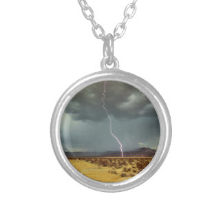 Lightning Joshua Tree Color Silver Plated Necklace