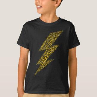 Lightning Kids Dark T-Shirt Vertical