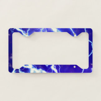 Lightning license plate license plate frame