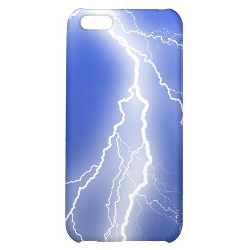 Lightning night design iPhone 5C cases