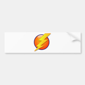 lightning orb energy icon vector bumper sticker