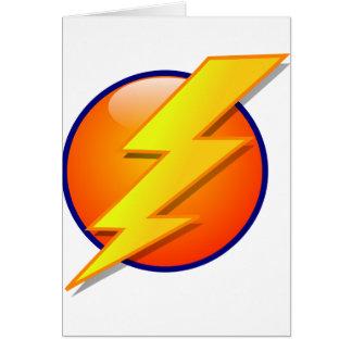 lightning orb energy icon vector card