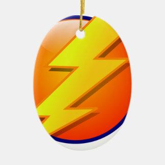 lightning orb energy icon vector ceramic ornament