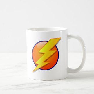 lightning orb energy icon vector coffee mug