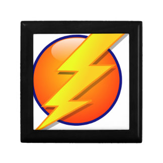 lightning orb energy icon vector gift box
