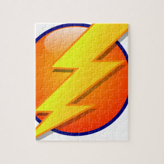 lightning orb energy icon vector jigsaw puzzle