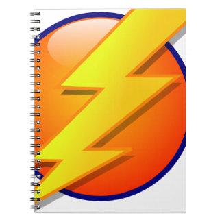 lightning orb energy icon vector notebook