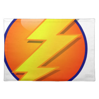 lightning orb energy icon vector placemat