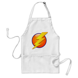 lightning orb energy icon vector standard apron