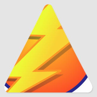 lightning orb energy icon vector triangle sticker