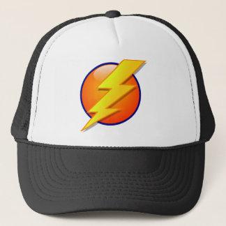 lightning orb energy icon vector trucker hat