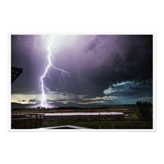 """Lightning over Boulder 36"""" x 24"""" Photo"""