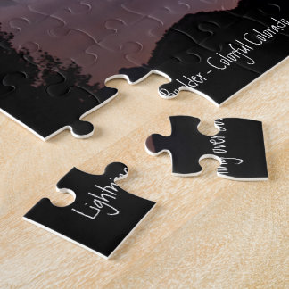 Lightning over Boulder Jigsaw Puzzle