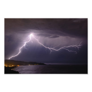 Lightning over Pacifica Art Photo