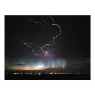Lightning over Ridgecrest Photo Print