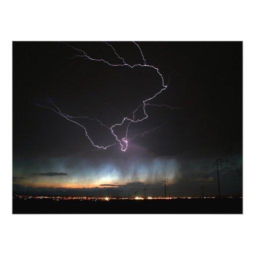 Lightning over Ridgecrest Art Photo