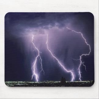 Lightning over Salt Lake Valley, Utah. Mouse Pad