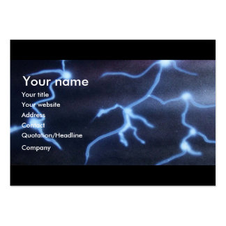 Lightning painting business card templates
