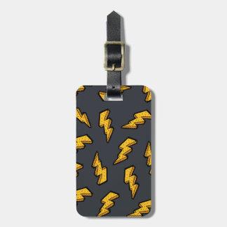 Lightning Pattern Luggage Tag