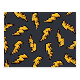 Lightning Pattern Postcard