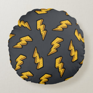 Lightning Pattern Round Pillow
