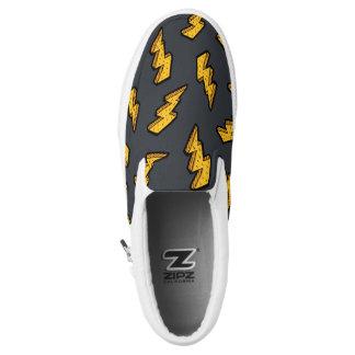 Lightning Pattern Slip-On Sneakers