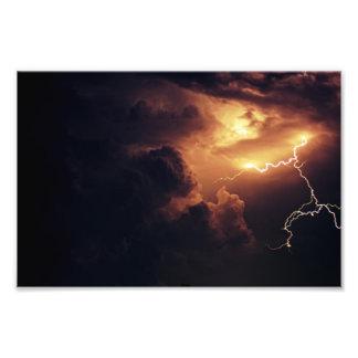 Lightning photo print