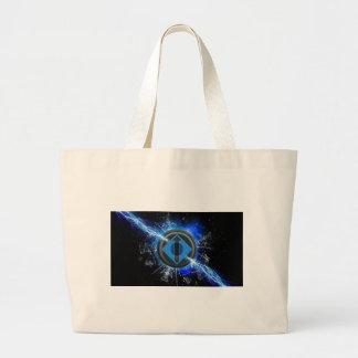 Lightning power large tote bag
