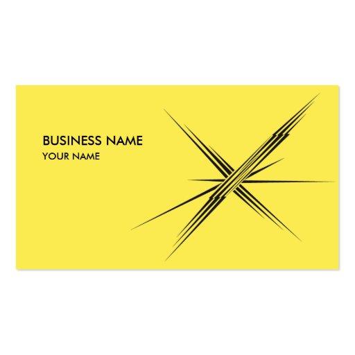 LIGHTNING STAR BUSINESS CARD YELLOW