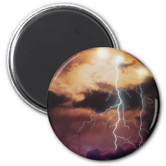Lightning Storm 2 Inch Round Magnet