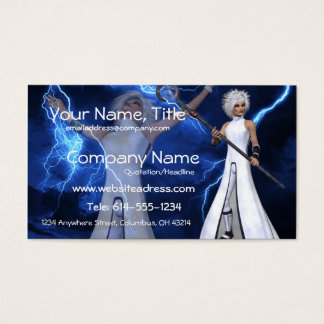Lightning Storm - Fantasy/Anime Business Cards