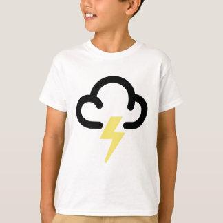 Lightning storm: retro weather forecast symbol t shirts