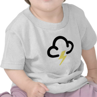 Lightning storm: retro weather forecast symbol tees