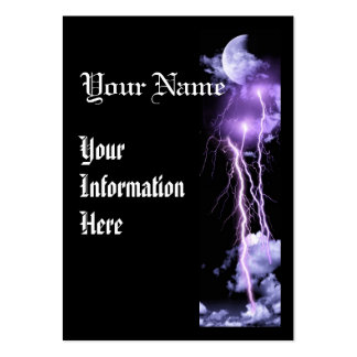 Lightning storm vertical business prolfile card large business card