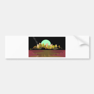 Lightning Strike City Bumper Sticker