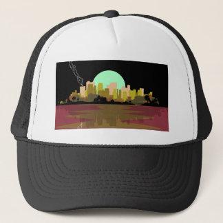 Lightning Strike City Trucker Hat