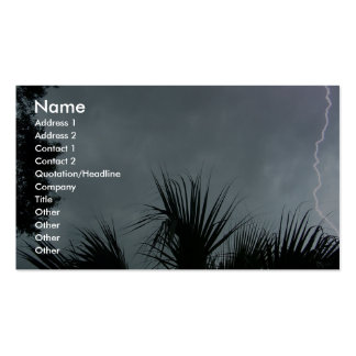 Lightning Strike In Tampa Fl, Business Card Template