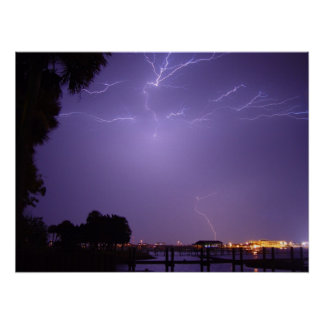 Lightning Strike River Palm Daytona Beach Poster