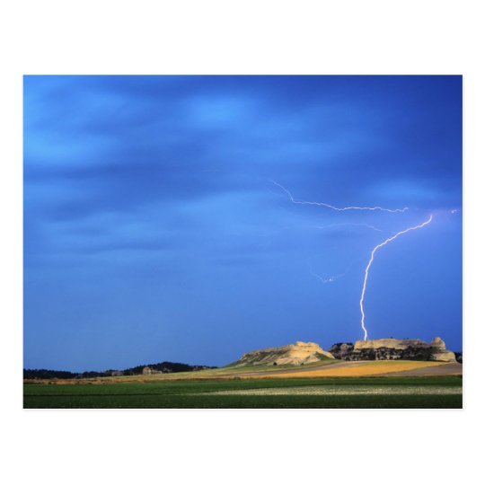 Lightning strikes the Wildcat Hills near Postcard