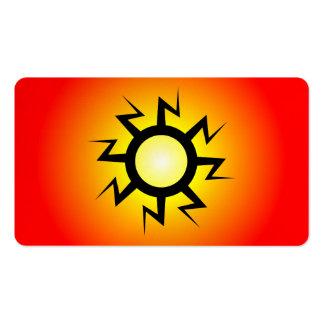 Lightning Sun Tattoo Business Card