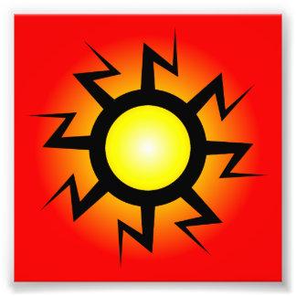 Lightning Sun Tattoo Photograph
