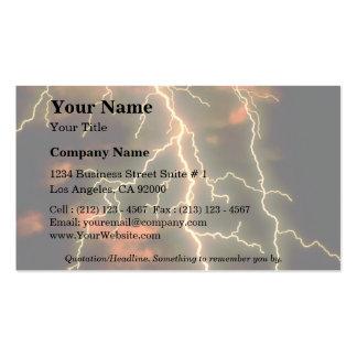 Lightning texture business cards